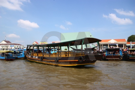 Boat water mekong river asia delta.