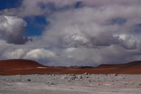 Bolivia geiser sol de manana geyser mountain sky.