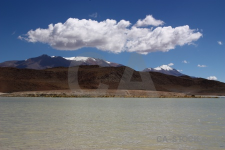 Bolivia landscape mountain laguna honda cloud.