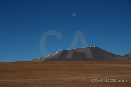 Bolivia sky mountain south america moon.