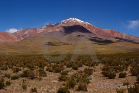 Bolivia snowcap cloud andes altitude.