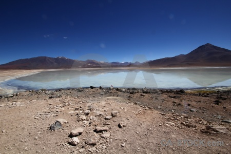 Bolivia south america laguna blanca landscape rock.