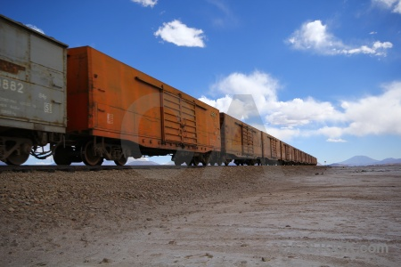 Bolivia train salar de chiguana vehicle south america.