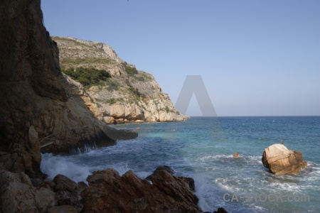 Boulder javea water europe spain.