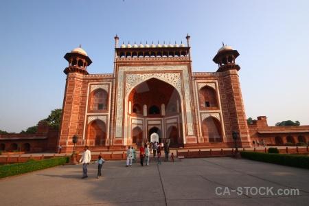 Brick building unesco south asia mosque.