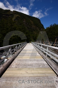 Bridge tutoko river cloud sky new zealand.