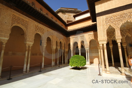 Brown alhambra building palace granada.
