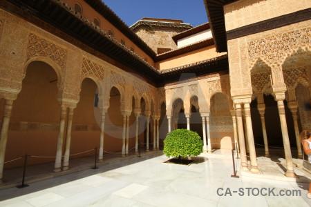Brown alhambra building palace granada.