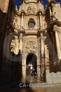 Brown church building spain europe.