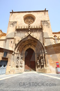 Brown entrance murcia iglesia catedral de santa maria building.