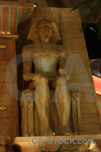 Brown figure statue.
