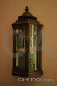 Brown lamp object.