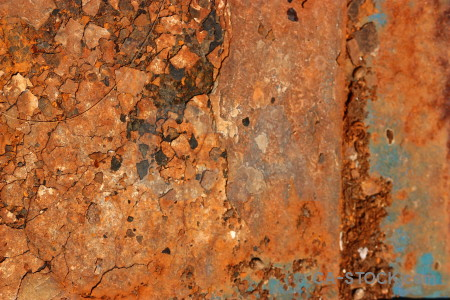 Brown orange rust texture.