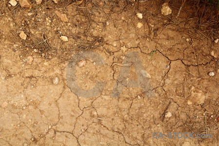 Brown orange soil texture crack.