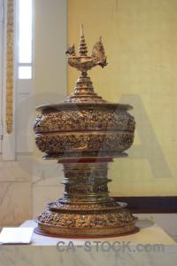 Brown ornament object pot.
