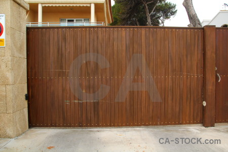 Brown wood gate texture plank.