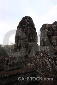 Buddhism angkor thom khmer carving temple.