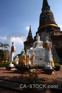 Buddhism asia buddhist phra chedi chaimongkol wat yai chai mongkol.