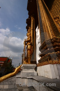 Buddhism bangkok gold building temple.