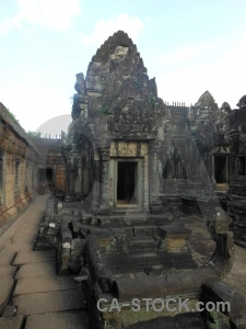Buddhism cambodia pillar siem reap banteay samre temple.
