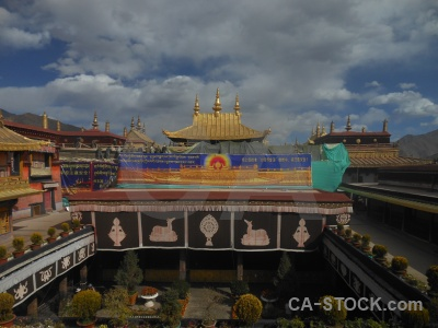 Buddhism jokhang temple asia altitude tibet.