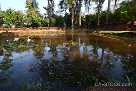 Buddhism southeast asia ruin stone lake.