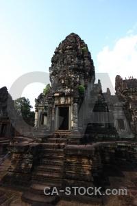 Buddhism step pillar cambodia fungus.