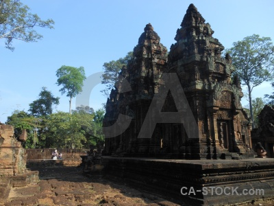 Buddhism stone khmer person temple.