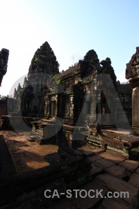 Buddhism temple lichen carving siem reap.