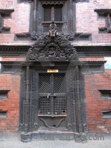 Buddhist asia nepal door hanuman dhoka.