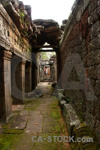 Buddhist block banteay kdei lichen cambodia.