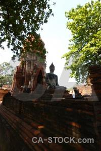 Buddhist buddha asia stupa ayutthaya.