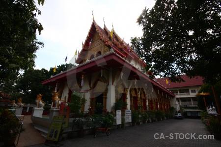 Buddhist gold chiang mai buddhism archway.