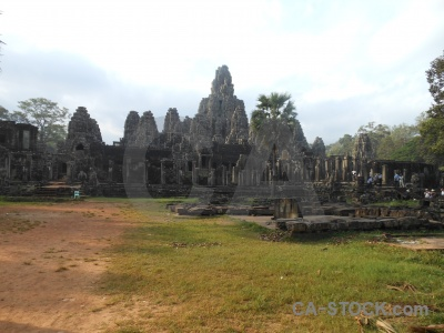 Buddhist khmer block angkor thom stone.