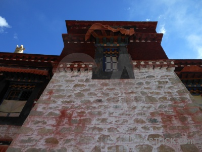 Buddhist lhasa building drepung monastery asia.