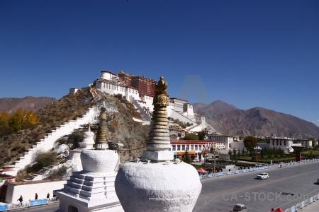 Buddhist monastery stupa tibet altitude.