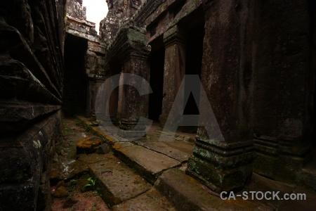Buddhist pillar cambodia prasat bayon stone.