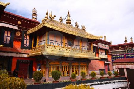 Buddhist qokang monastery buddhism tibet china.
