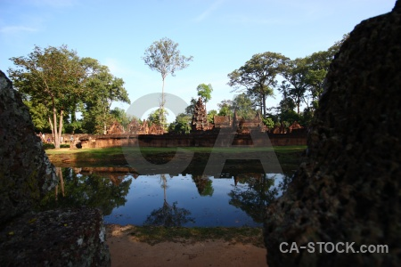 Buddhist siem reap asia pond khmer.