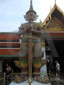 Buddhist sky building royal palace asia.