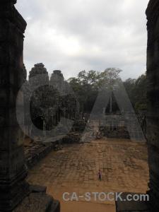 Buddhist sky khmer ruin southeast asia.