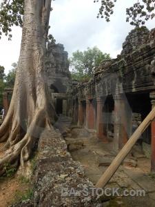 Buddhist sky pillar angkor stone.