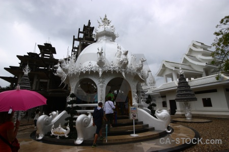 Buddhist southeast asia sky temple white.