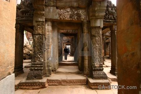 Buddhist temple lichen southeast asia khmer.