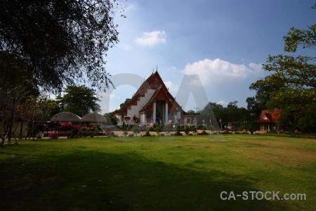 Buddhist wihan phramongkhon bophit tree wat phra si sanphet cloud.