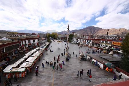 Building altitude tibet jokhang lhasa.