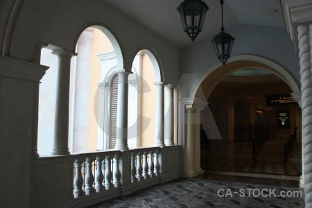 Building archway interior.