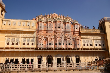 Building archway south asia jaipur india.
