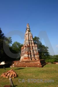 Building asia brick wat phu khao thong unesco.