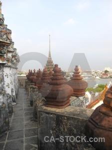 Building asia buddhist thailand wat arun.
